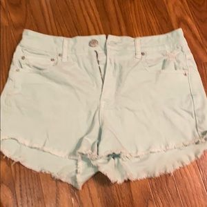 American Eagle Mint Blue Shorts Size 10